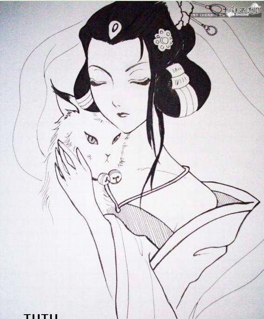 古代贵妃手绘图片大全