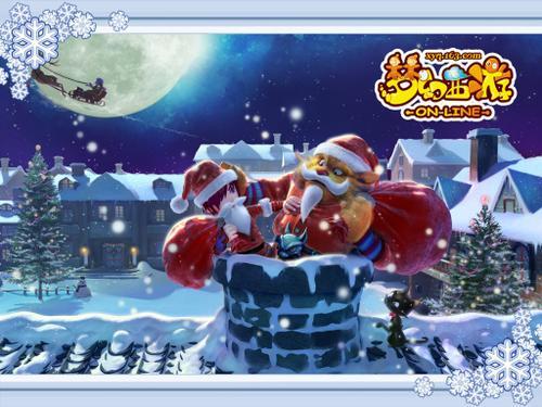 《梦幻西游》圣诞主题壁纸精彩亮相