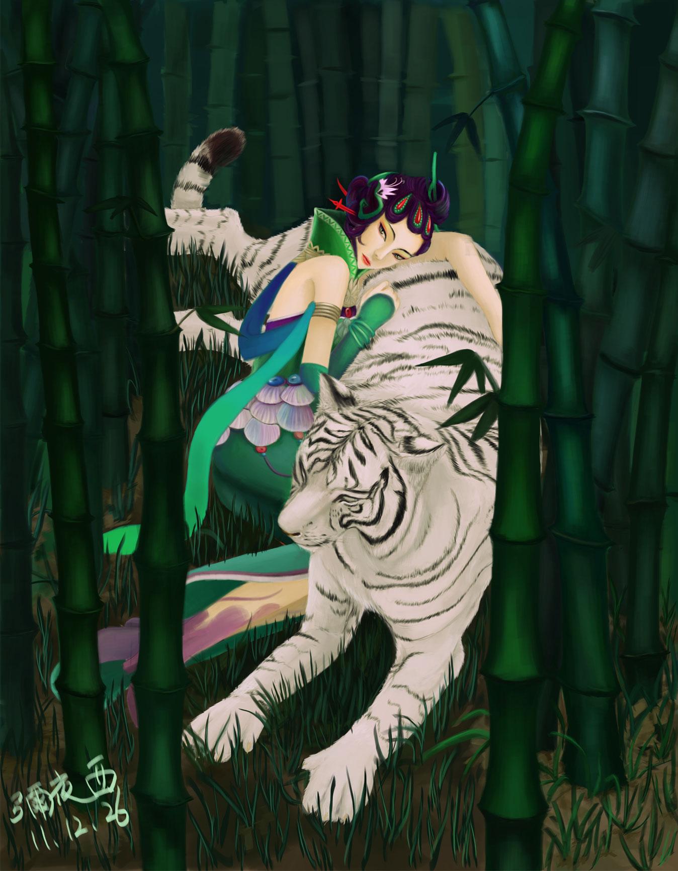 手绘:美女与野兽