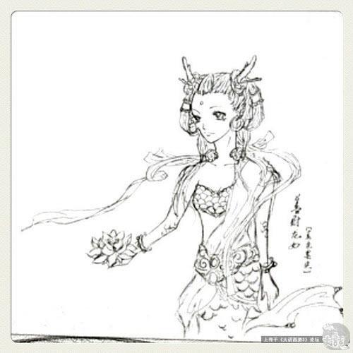 虞姬手绘涂鸦- 《新大话西游3》(经典版)-爱情网游