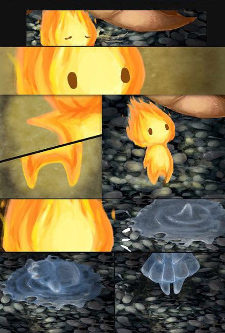 唯美插画:当赭炎和苍凛相爱