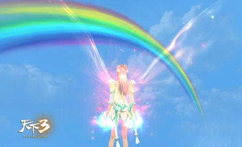 有彩虹的风景鲁斯本
