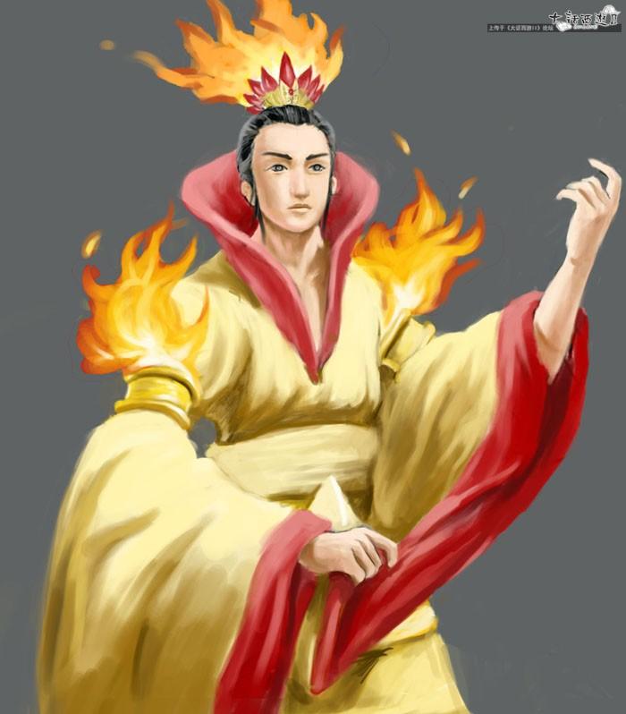 原创手绘--燃灯_《大话西游2经典版》官方网站—中国