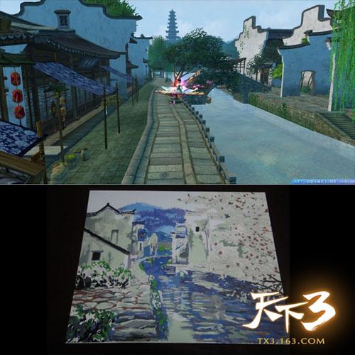 玩家手绘江南美景