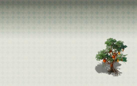 游戏内素材壁纸-灯笼树
