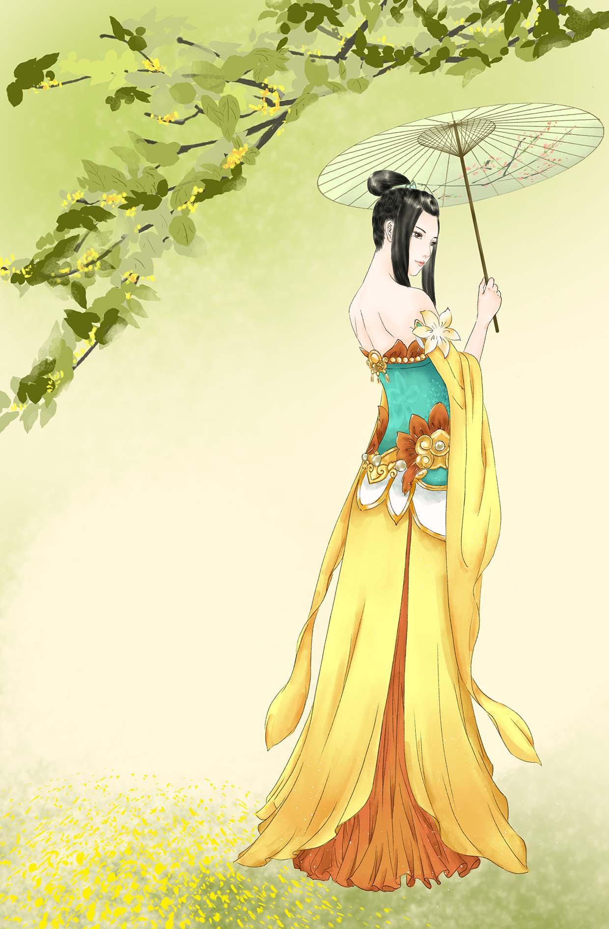 绝色手绘:华宫秋月