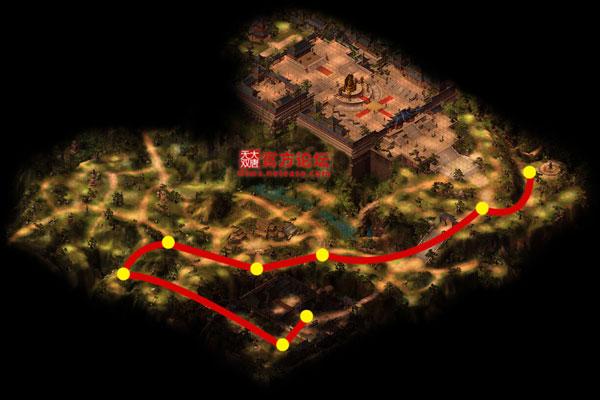少林寺漠北行走路线