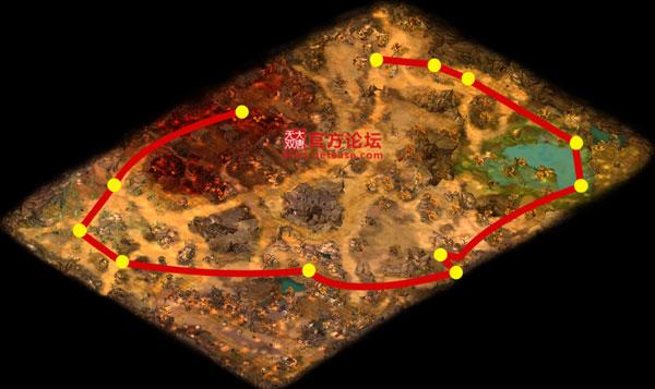 鸣沙山漠北行走路线