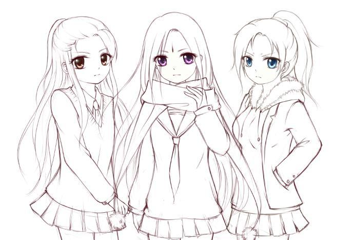 日本动漫人物简笔画_日本动漫女生简笔画_日本动漫