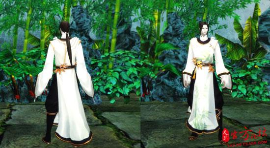 《天下3》时装凤池吟鬼墨,龙巫效果展示