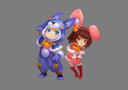 """异域仙兔"""",据说异域有个小女孩儿,为了追逐一个背着时钟的人形"""